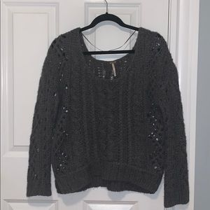 Free People Grey Sweater - Size S/P (runs large)